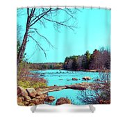 The Moose River At Lyonsdale Shower Curtain
