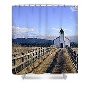 The Morley Church, Alberta, Canada Shower Curtain