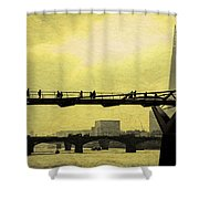 The Morning Commute Shower Curtain