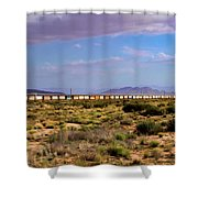 The Morning Train By Route 66 Shower Curtain