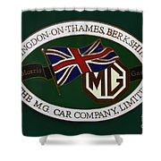 The Morris Garages Shower Curtain