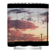 The Most #amazing #sunset Over #austin Shower Curtain