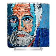 The Most Interesting Man In The World Shower Curtain by Ana Maria Edulescu