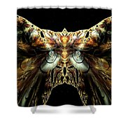 The Moth Shower Curtain