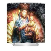The Mother Of The King Is Queen Shower Curtain