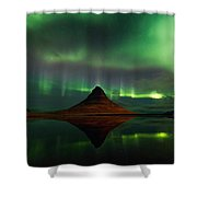 The Mountain And The Dancer Shower Curtain