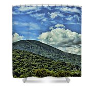 The Mountain Meets The Sky Shower Curtain