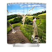 The Mountain Road  1 Shower Curtain