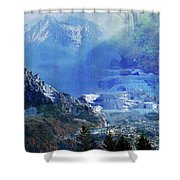 The Mountains Melting Snows Shower Curtain