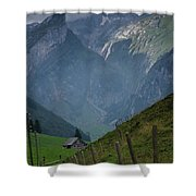 The Mountains Of Switzerland Shower Curtain