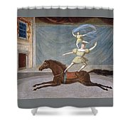 The Mounted Acrobats Shower Curtain