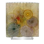 The Mourning Of Persephone - Fractal Art Shower Curtain