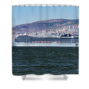The Msc Poesia Shower Curtain