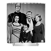 The Munster Family Portrait Shower Curtain