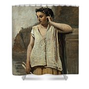 The Muse. History Shower Curtain