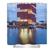 The Museum Aan De Stroom Shower Curtain