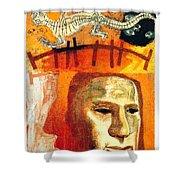 The Museum Of Mankind By Tube - Burlington Gardens - London Underground - Retro Travel Poster Shower Curtain