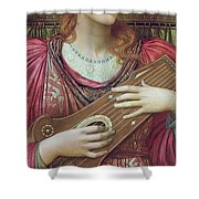 The Music Faintly Falling Dies Away Shower Curtain