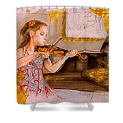 The Music Of Silence Shower Curtain