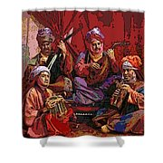 The Musicians Of Hajji Baba Shower Curtain by Eikoni Images