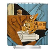 The Musician's Table Shower Curtain