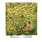 The Mustard Seed Shower Curtain