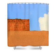 The Muted Cloud Shower Curtain