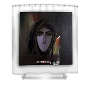The Muted Woman Shower Curtain
