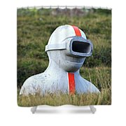The Mysterious Observer Shower Curtain