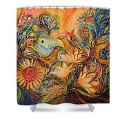 The Mystery Of Orange Tree Shower Curtain