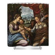 The Mystic Marriage Of Saint Catherine Shower Curtain