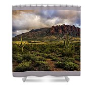 The Mystical Beauty Of The Superstitions  Shower Curtain