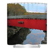 The Narrows Covered Bridge At Dusk Shower Curtain