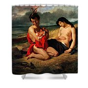 The Natchez Shower Curtain by Ferdinand Victor Eugene Delacroix