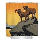 The National Parks Preserve Wild Life Vintage Travel Poster Shower Curtain