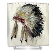 The Native Headdress Shower Curtain