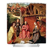 The Nativity By Gerard David  Shower Curtain