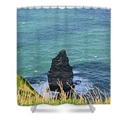 The Needle Off The Cliff's Of Moher In Ireland Shower Curtain