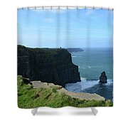 The Needle Rock Formation On The Cliff's Of Moher Shower Curtain