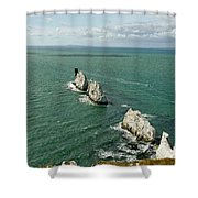 The Needles - Isle Of Wight Shower Curtain
