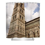 The Neo Gothic Facade Of The Duomo In Florence Shower Curtain