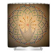 The Net Of Mindfulness Shower Curtain