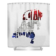 The Netherlands Typographic Map Flag Shower Curtain