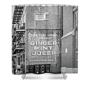 The New Drink Monochrome Shower Curtain