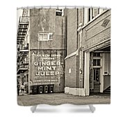 The New Drink Sepia Shower Curtain