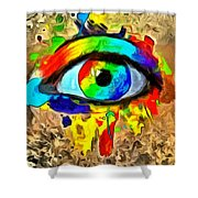 The New Eye Of Horus Shower Curtain