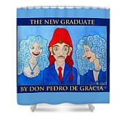The New Graduate Shower Curtain