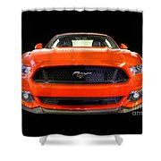 The New Mustang Shower Curtain