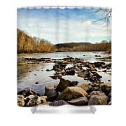 The New River At Whitt Riverbend Park - Giles County Virginia Shower Curtain