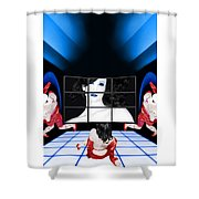 The New Year's Dream - Self Portrait Shower Curtain